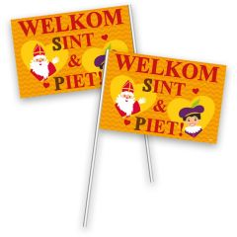 Zwaaivlaggentjes Sinterklaas - 30x20 cm