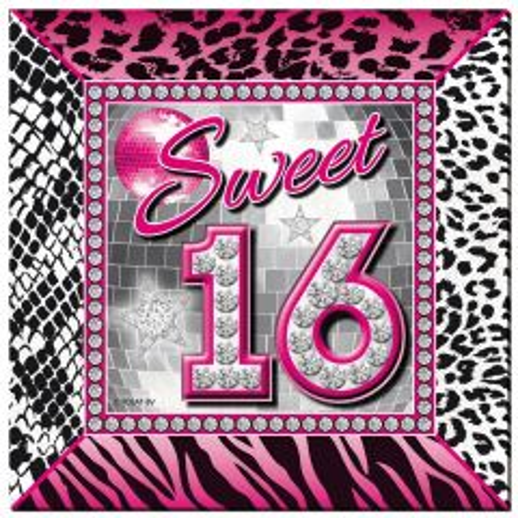 Sweet 16 Servetten - 20 stuks