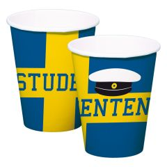 Studentenfeest Bekers 250ml - 8 stuks