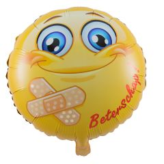 Smiley Beterschap Folieballon - 45cm