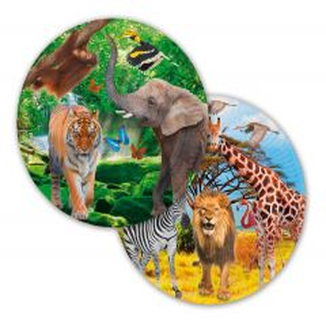 Safari Party Borden 23cm 8 stuks