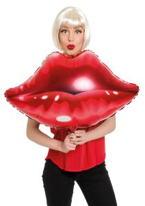 Kiss me Now! Rode Lippen folieballon v3