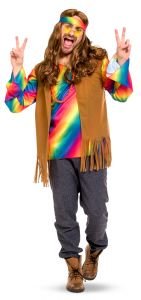 Hippie Outfit Heren - Main image