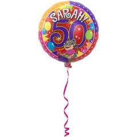 Folieballon Sarah Knalfeest - 43cm