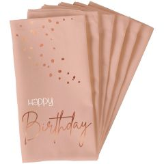 Servetten Happy Birthday Elegant Lush Blush - 10stk