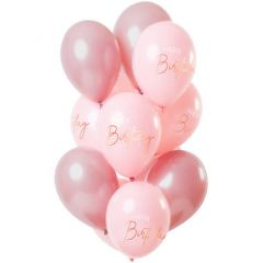 Ballonnen Happy Birthday Elegant Lush Blush - 12stk