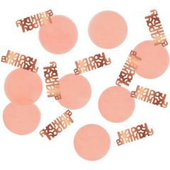 Confetti Happy Birthday Elegant Lush Blush