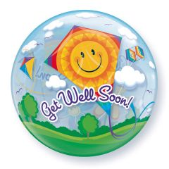 Beterschap Bubbles Ballon Get Well Soon - 56cm
