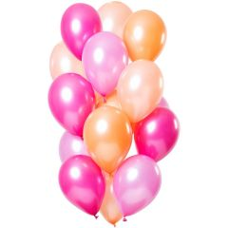 Ballonnen Peachy Flamingo - 15 stk