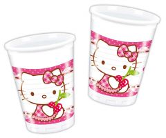 Hello kitty bekers - 8 stuks