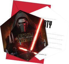 Star Wars The Force Awakens Uitnodigingen - 6 stuks