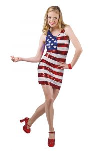 USA Party Jurk Dames Maat M