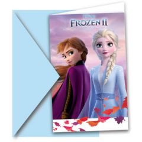 Uitnodigingen Frozen 2 - 6stk