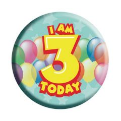 3 jaar verjaardag button