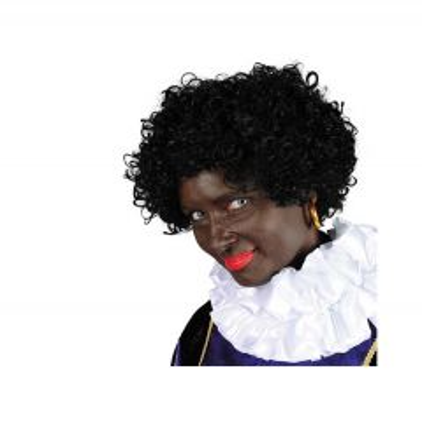 Pietenpruik Black Jack Kanekalon - zwart