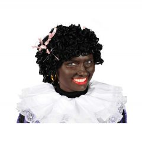 Pietenpruik Black Jackie Kanekalon - zwart