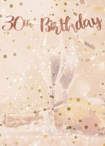 Letter Slinger 30th Birthday  Rosé Goud - 1,8mtr