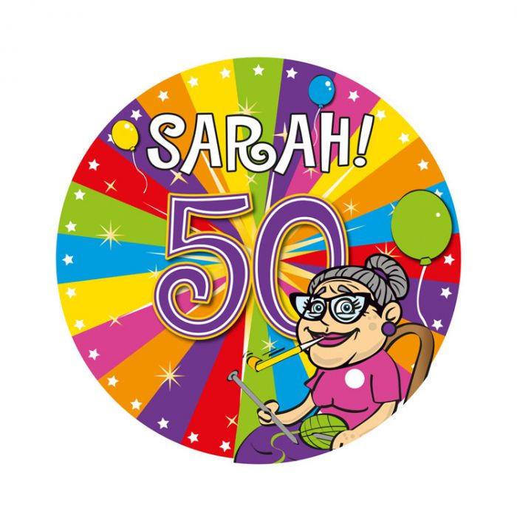 Verwonderlijk 50 Jaar Sarah Led Party Button   Feestwinkel.nl ZH-64