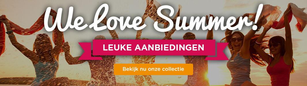 We Love Summer! Leuke aanbiedingen. Bekijk nu onze collectie
