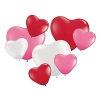 Hartvormige Ballonnen Set - 8 stuks