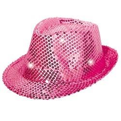 Roze Hoed met LED