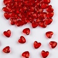 Tafeldecoratie Diamanten Rode Hartjes 12mm