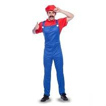 Loodgieter kostuum rood heren