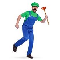 Loodgieter kostuum groen heren
