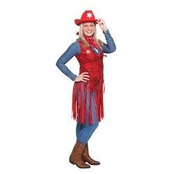 Rood Cowboy Vest Dames