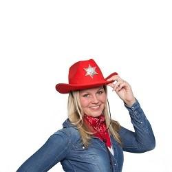 Rode Cowboy Bandana-Sjaal
