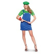 Super Loodgieter Kostuum Dames Groen
