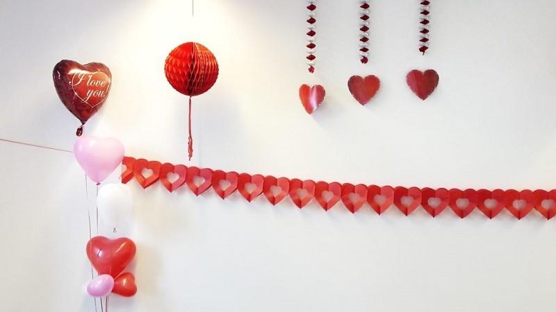 Valentijnsdag versiering