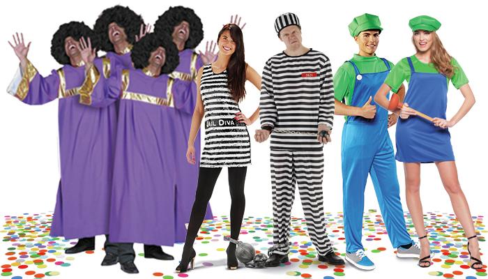 groeps carnavalspakken