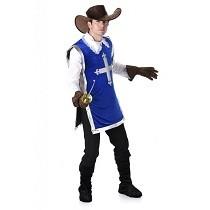 Musketier Kostuum Blauw Heren