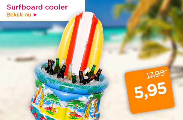Opblaasbare surfboard cooler