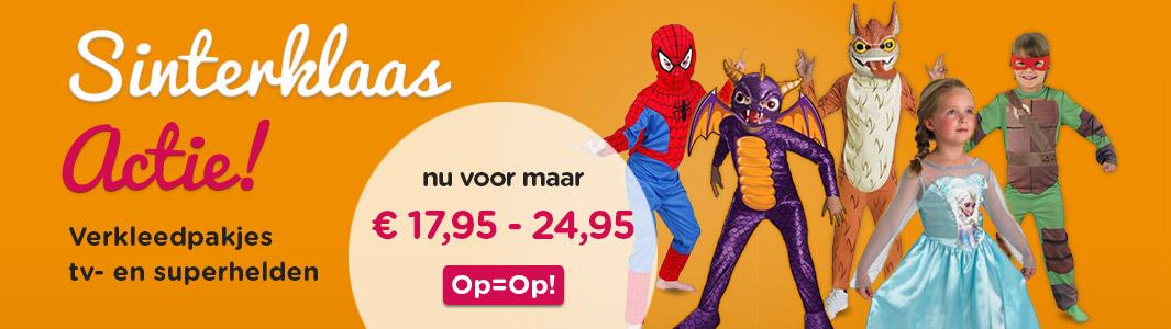 Sinterklaas Sale! Verkleedpakjes TV- en Superhelden
